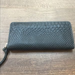 AllSaints  Zip Around Wallet  crocodile embossed